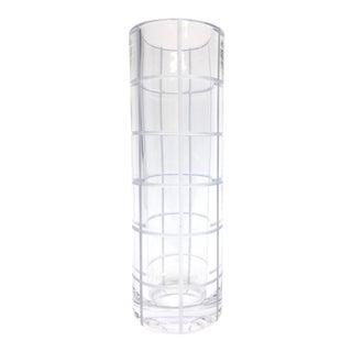 Vintage Miller Rogasta Tall Heavy Crystal Vase For Sale
