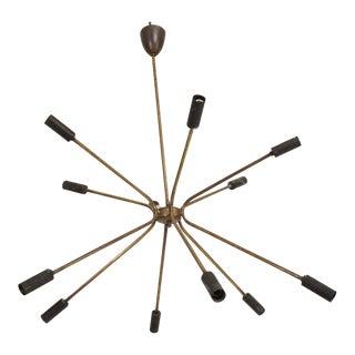 Mid Century Italian Modern Sputnik Chandelier For Sale