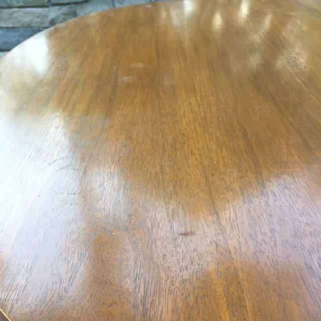 Walnut Mid Century Modern Dining Table With Two Leafs - Image 5 of 11