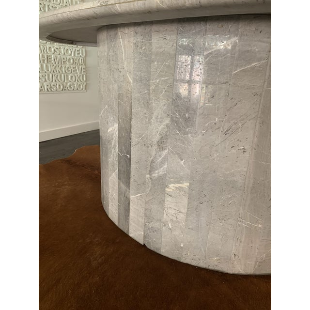 Concrete Vintage 1970s Italian Ovoid Marble Dining Table For Sale - Image 7 of 9