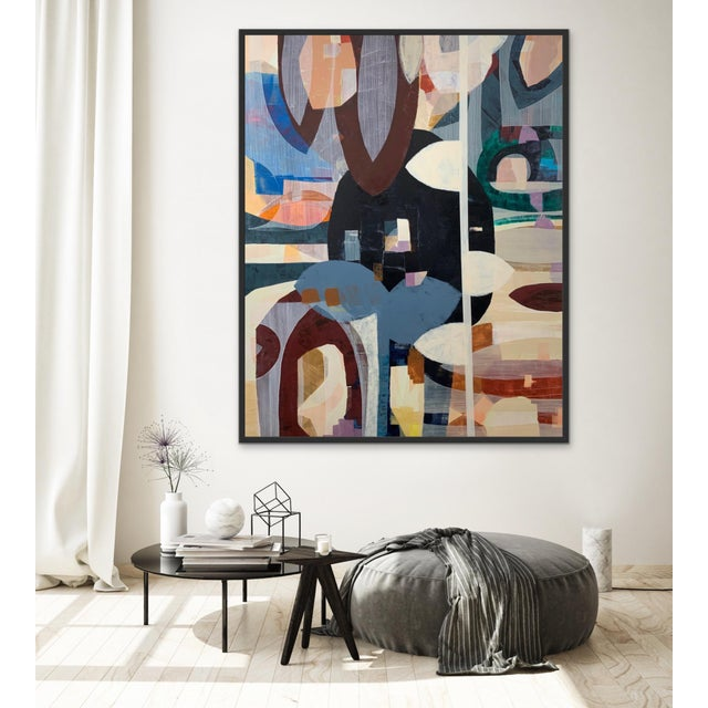 This original abstract painting is new and ready to hang in any direction with or without frame. Sides are painted.