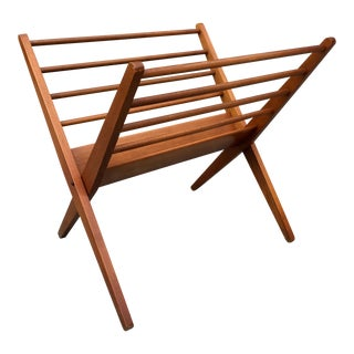 Danish Modern Birch Folding Magazine Rack
