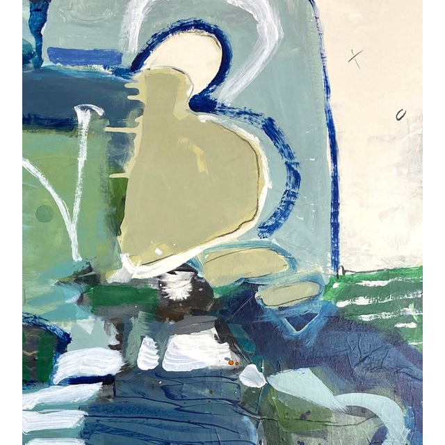 "Abstract Original Mixed Media Painting by Gina Cochran, ""I Went Through the Little Door"" For Sale - Image 3 of 6"