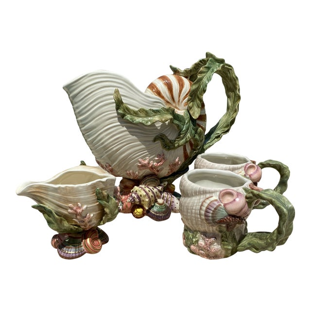Fitz and Floyd Oceana Cups and Pitchers - Set of 4 For Sale