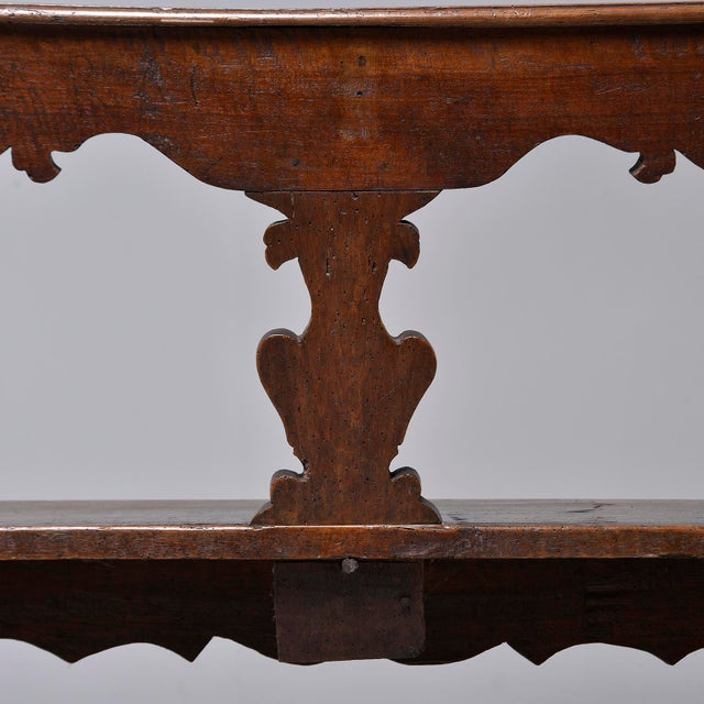 19th Century Italian Primitive Hand Carved Bench For Sale - Image 9 of 13