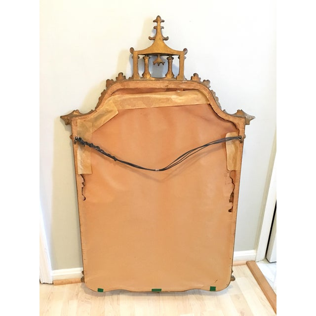 Vintage LaBarge Style Chinoiserie Chippendale Pagoda Bell Mirror For Sale - Image 10 of 11