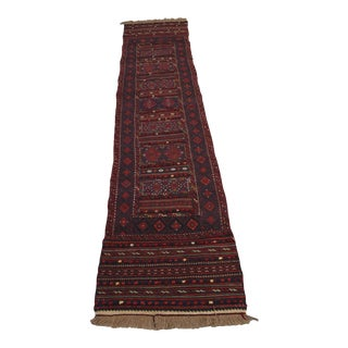 "Afghan Soumak Tribal Kilim Runner-2'3'x9'11"" For Sale"