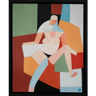 Contemporary Acrylic Painting by Andy Dobbie, Seated Nude IV For Sale
