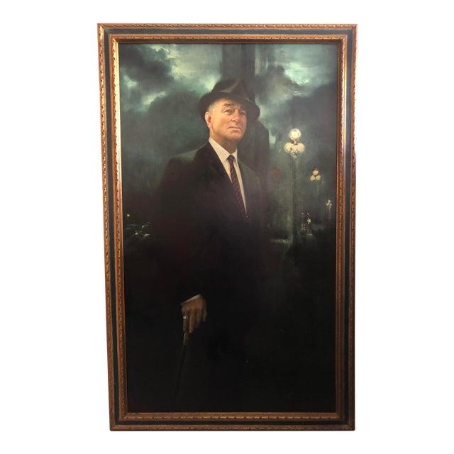 XL Portrait by M Runci Dated 1965 For Sale
