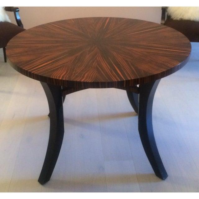 Zebra Wood Round Dining Table - Image 2 of 5