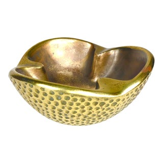 Ben Seibel Dimpled Modernist Brass Catchall For Sale