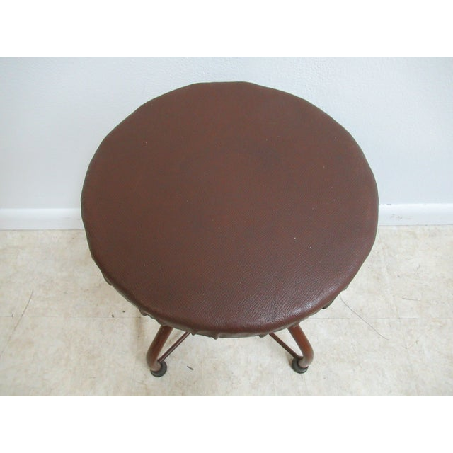 1950s Mid-Century Modern Industrial Doctor's Stool For Sale - Image 4 of 10
