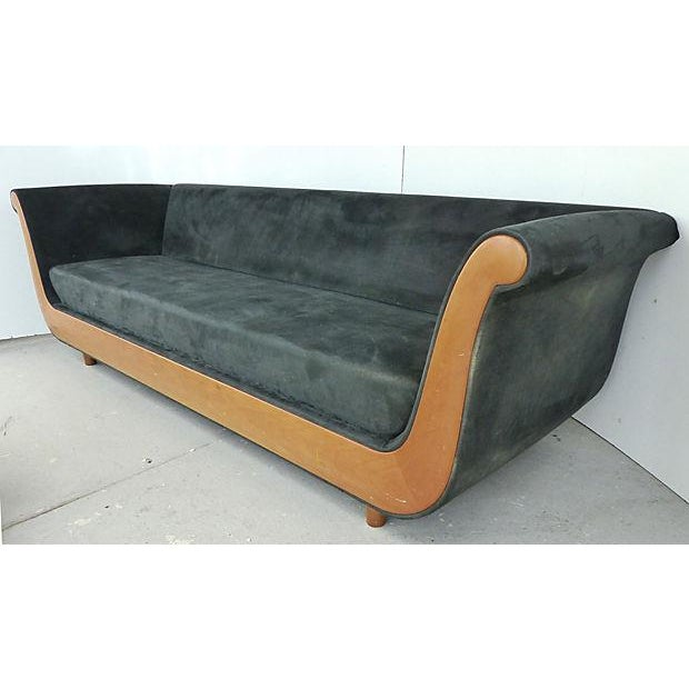 "An Italian 1980's maple frame sofa in the Biedermeier style. A great form to make statement. Seat, 17""H. Minor finish..."