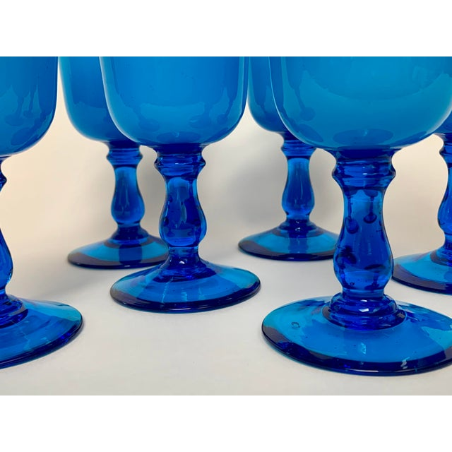Final Markdown Mid-Century Modern Carlo Moretti Style Cased Glass Goblets - Set of 6 For Sale In New York - Image 6 of 12