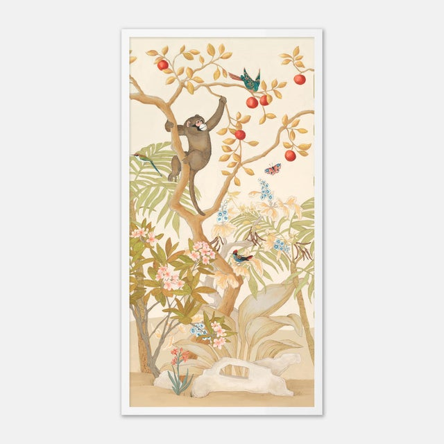 Allison Cosmos A Jungle Gathering by Allison Cosmos, Set of 3, in White Framed Paper, Medium Art Print For Sale - Image 4 of 8