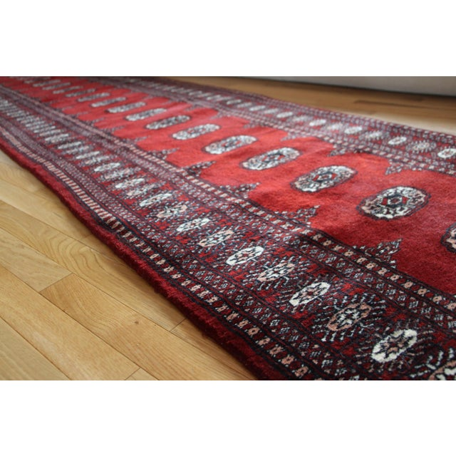 Pakistan Bokhara Hand-Knotted Runner - 2′8″ × 20′ - Image 5 of 7