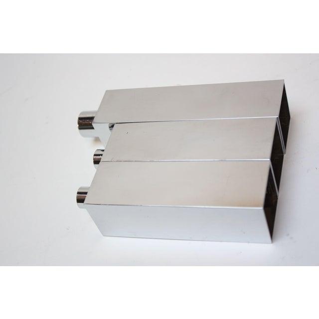 Hans-Agne Jakobsson Swedish Chrome-Plated Candle Holders - Set of 3 - Image 2 of 11