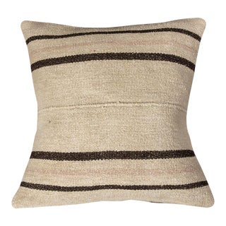 Vintage Luxury Wool White Sofa Pillow For Sale