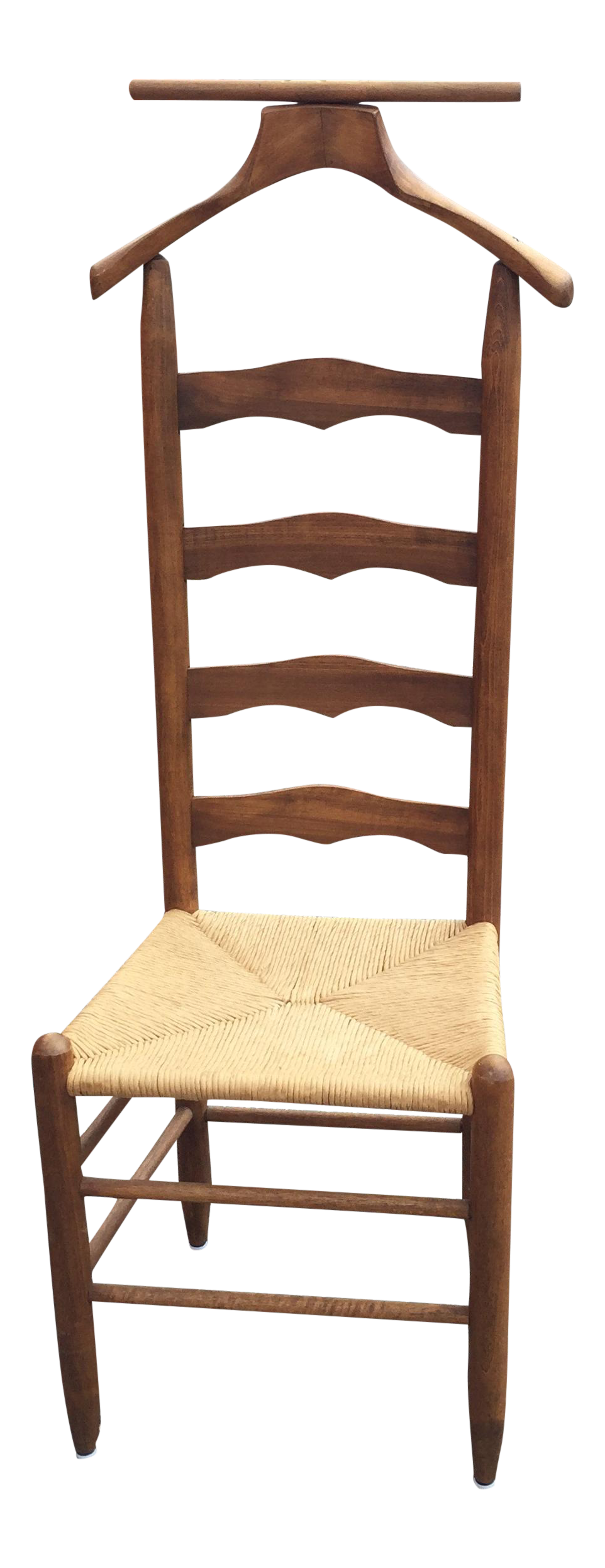 sc 1 st  Chairish & Vintage Rush Wood Ladder Back Valet Chair | Chairish