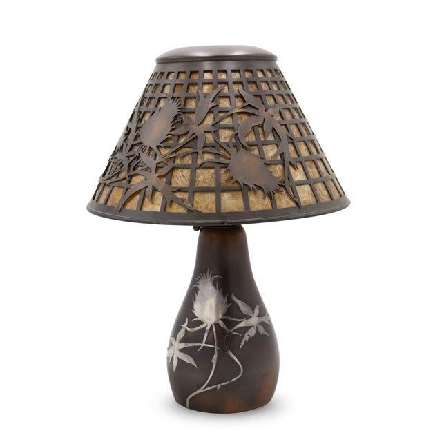 Metal American Mission Heintz Art Metal Table Lamp For Sale - Image 7 of 7