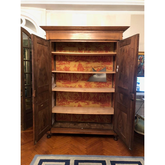 19th Century Walnut Armoire For Sale In New York - Image 6 of 13