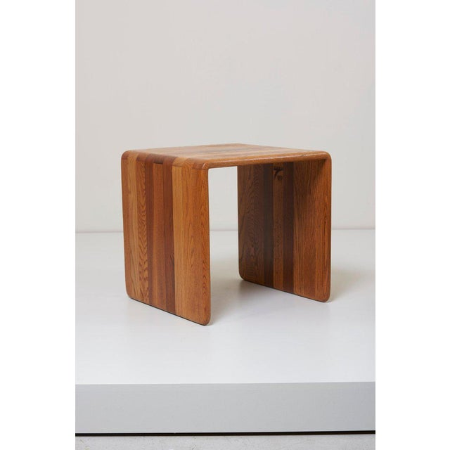 Pair of two wood ribbon stools designed by James Rannefeld for Jawar. The stools are in excellent condition.