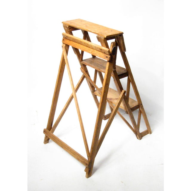 Country 19th C. Hatherley Step Ladder For Sale - Image 3 of 8