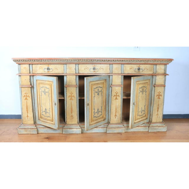 1970s Hand Painted Italian Cabinet For Sale - Image 12 of 13