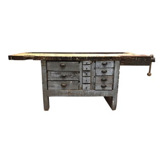Vintage Workbench Sideboard For Sale