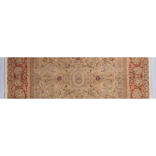 Textile Beige Ground Indian Carpet For Sale - Image 7 of 8