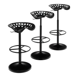 Trio of French Vintage Bar Stools For Sale