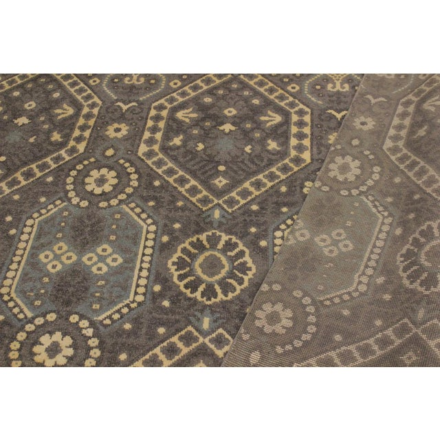 Ezyln Modern Cheryle Gray/Ivory Wool & Viscouse Rug - 7'11 X 10'2 For Sale - Image 4 of 8