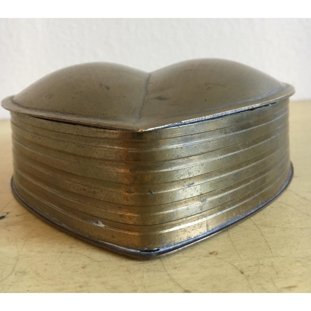 Brass Heart Vintage Jewelry Box - Image 5 of 7