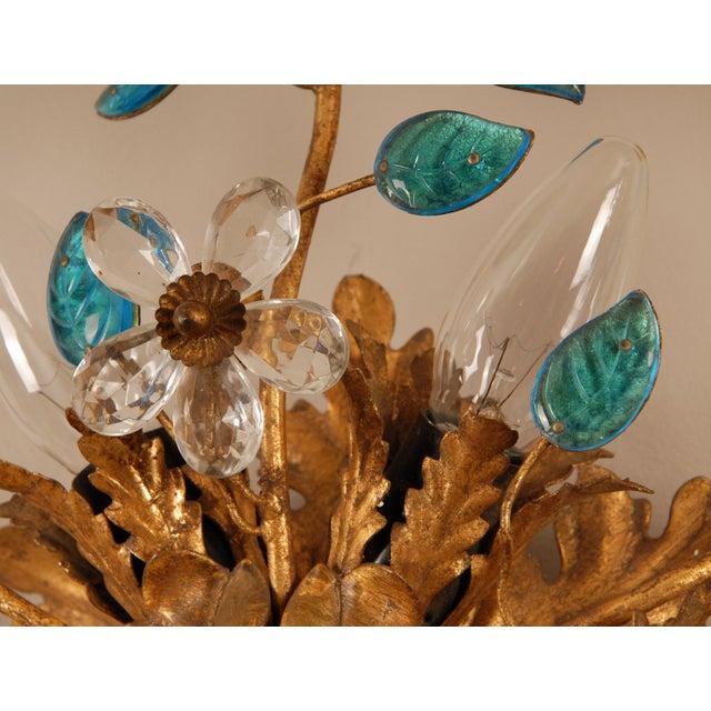 Metal 1970s Mid-Century Italian Murano Glass Sunburst Sconces, Venice - a Pair For Sale - Image 7 of 11