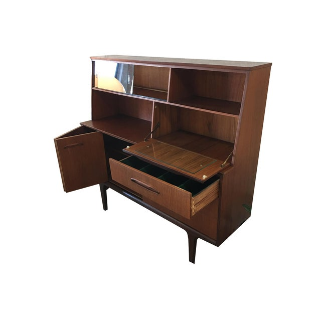 Vintage Mid-Century Modern Danish Teak Buffet With Dry Bar For Sale - Image 4 of 11