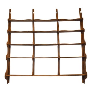 19th Century English Oak Wall Shelf For Sale