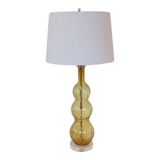 Vintage Italian Murano Gold Glass Lamp by C. Damien Fox