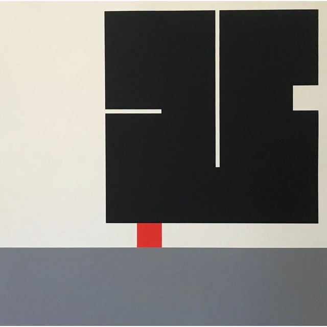 Abstract Vintage Geometric Abstract Op Art Serigraph by Anton Stankowski C. 1970s For Sale - Image 3 of 6