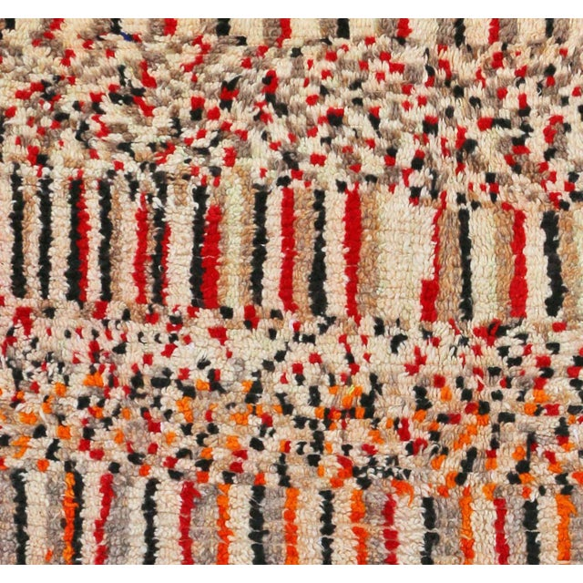 "Moroccan Berber rug handwoven by women of the Azilal tribe in the Middle Atlas Mountains. Type of Rug: Azilal Size: 4'7"" x..."