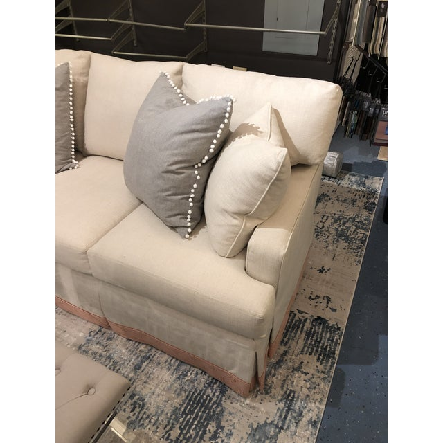 2010s Cr Laine 3 Seat Track Arm Sofa For Sale - Image 5 of 10