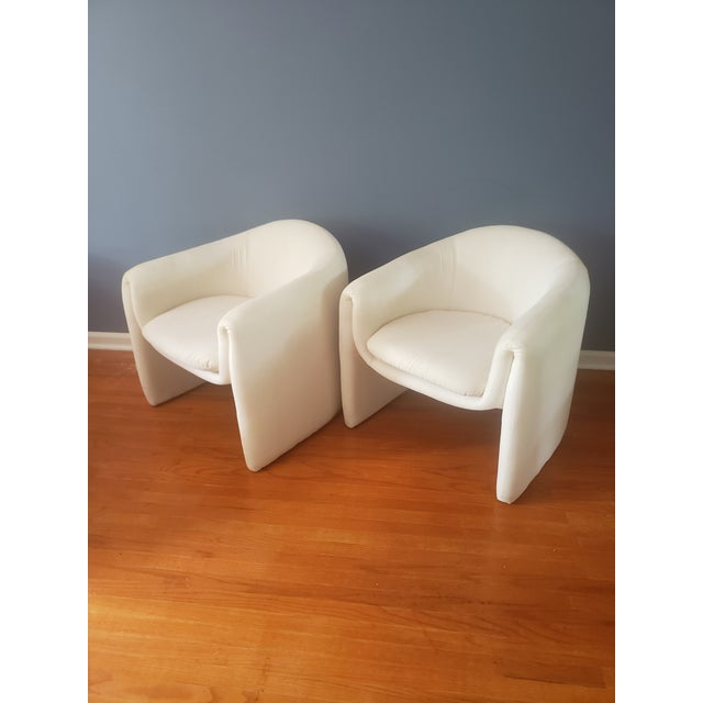 1980s Vintage Vladimir Kagan Sculptural Arm Chairs- A Pair For Sale - Image 13 of 13