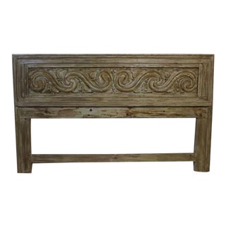 Carved Wooden Headboard For Sale