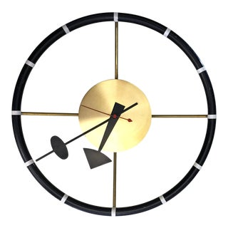 Modernist Steering Wheel Wall Clock by George Nelson for Howard Miller For Sale