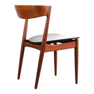 Klein for Bramin Teak Compass Sculpted Desk Chair / Accent Chair For Sale