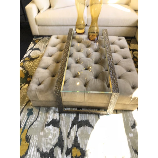 Modern Baker Furniture Pompeii Coffee Table & Paris Ottoman - A Pair For Sale - Image 3 of 8