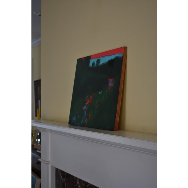 "2010s Abstract Painting, ""Sunset over the Mad River"" by Stephen Remick For Sale In Providence - Image 6 of 10"