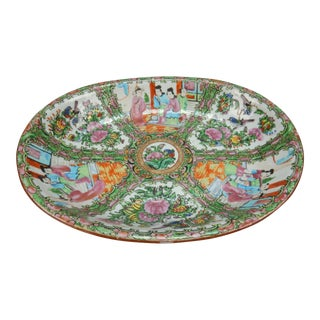 Antique Chinese Rose Medallion Platter
