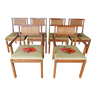 Hickory Co. Danish Teak Modern Style Chairs Set of 6 For Sale