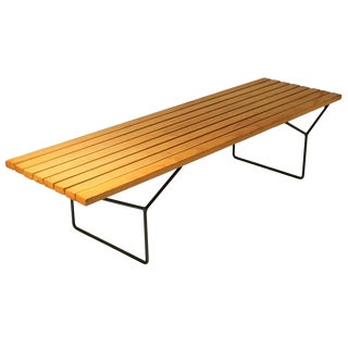 Harry Bertoia Slat Bench For Sale