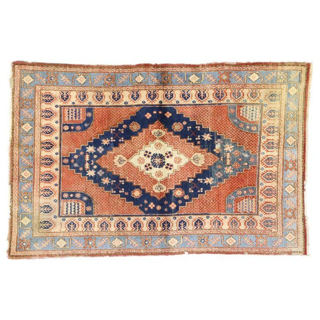 Early 20th Century 20th Century British Colonial Persian Hamadan Rug For Sale - Image 5 of 6